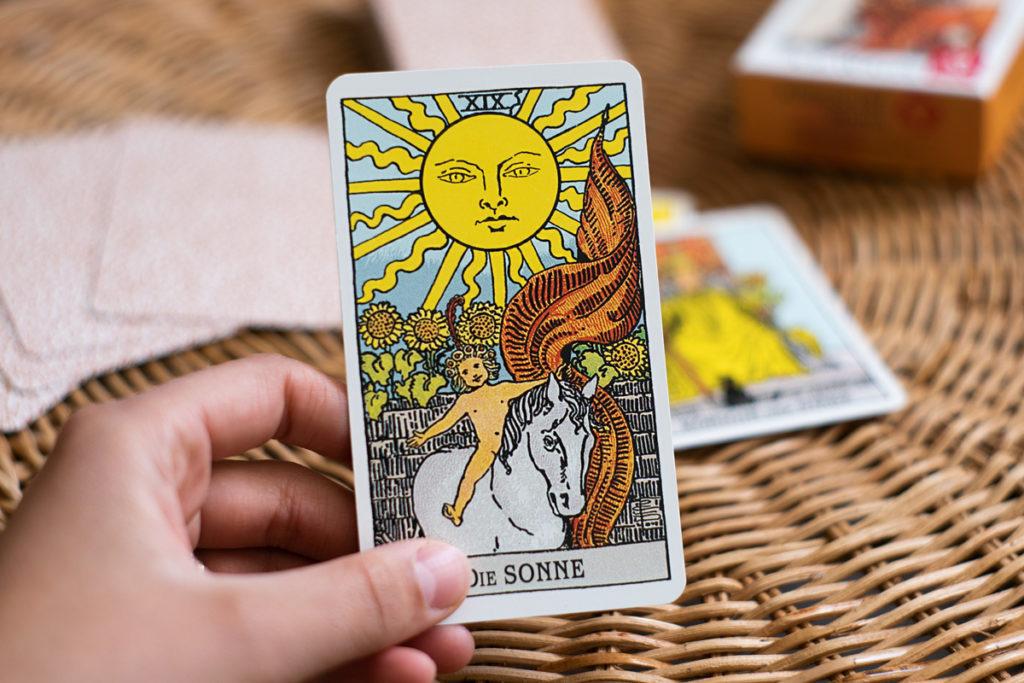 """Tarot Karte """"Die Sonne"""""""
