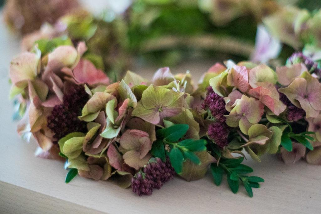 Blumenkranz Hortensien